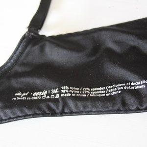 Aerie Intimates & Sleepwear - Aerie Ella Gel Black Bra Size 34C Discontinued